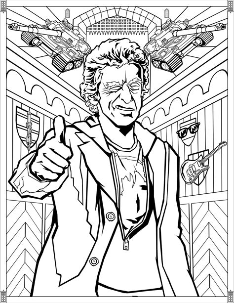 doctor who coloring pages doctor who pages twelfth doctor tv shows coloring