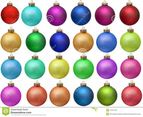 collection of colored christmas ornament royalty free