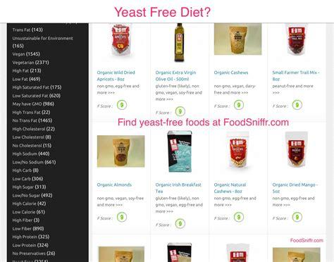 yeast free food yeast free foods