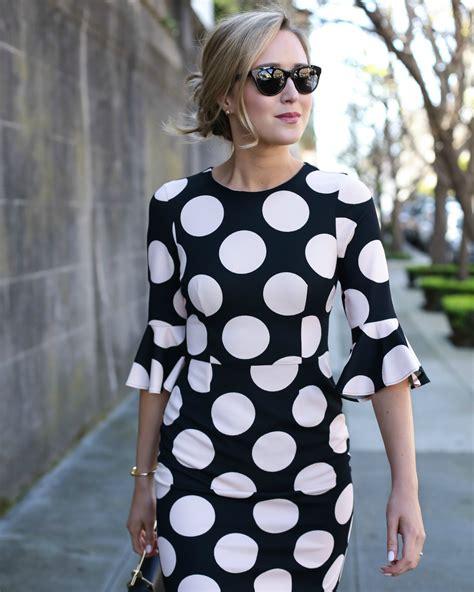 Dot Sleeve Dress polka dot bell sleeve dress memorandum nyc fashion