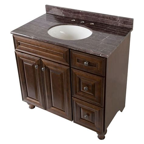 Effects Vanity Top by Home Decorators Collection Templin 37 In Vanity In Coffee