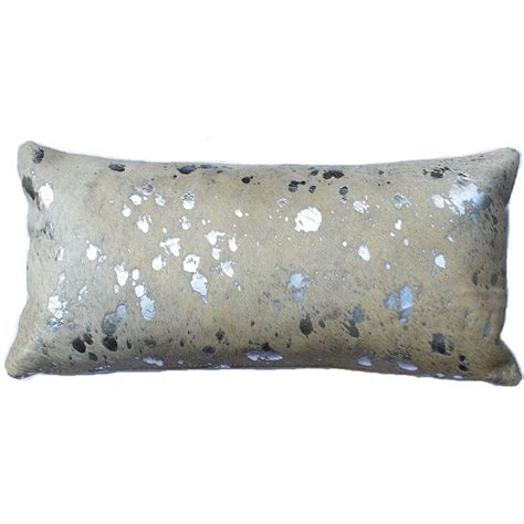 metallic cowhide pillow silver metallic cowhide lumbar pillow to decorate the