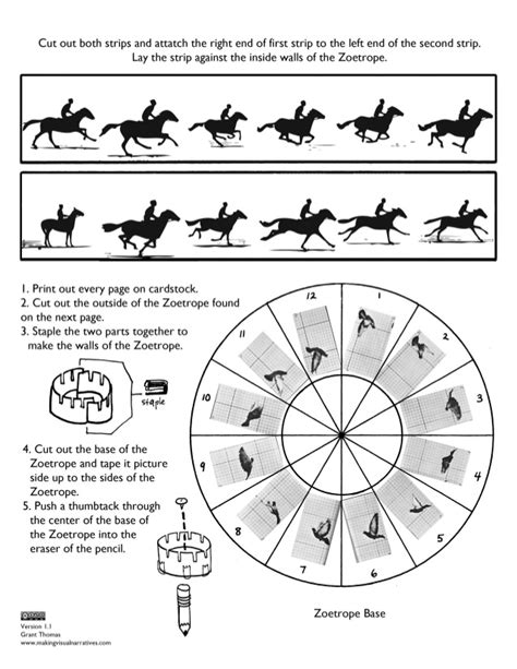 printable zoetrope muybridge inspired printable papercraft zoetrope