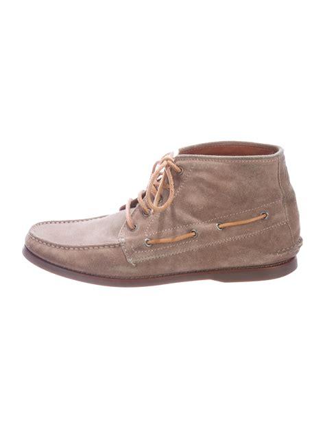 brunello cucinelli suede moccasin boots shoes bru36533