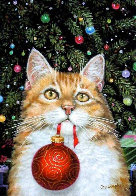 cat xmas images  pinterest vintage christmas cards kitty cats  vintage cards