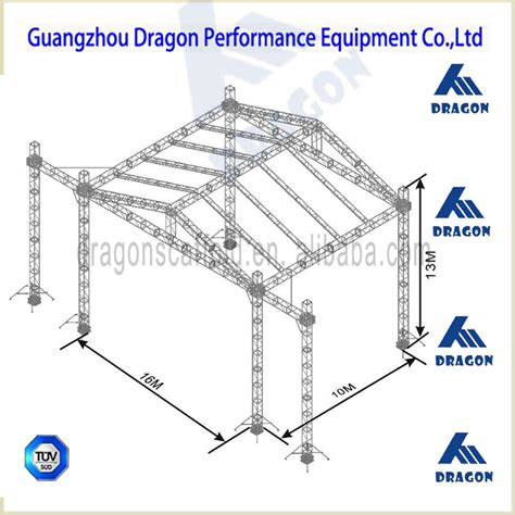used truss equipment global outdoor stage roof truss for hanging speakers used