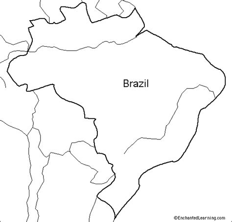 coloring page map of brazil outline map research activity 1 brazil