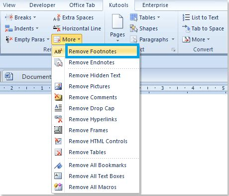 modify the footnote style word 2013 quickly remove all footnotes from document in word