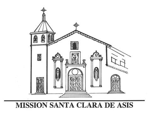 mission santa clara de asis floor plan church bell sketch templates
