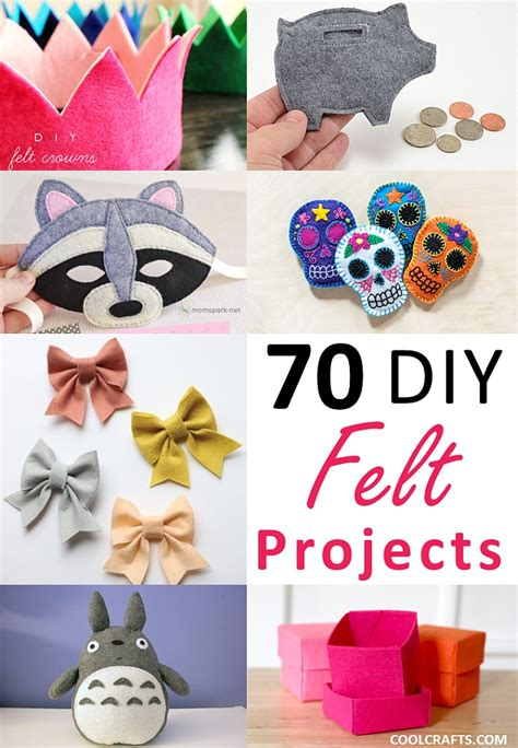 cool craft ideas felt craft projects 70 diy ideas made with felt cool crafts