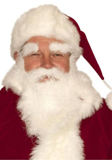 father christmass fake beard santa beard moustache and eyebrows set in white 1461202