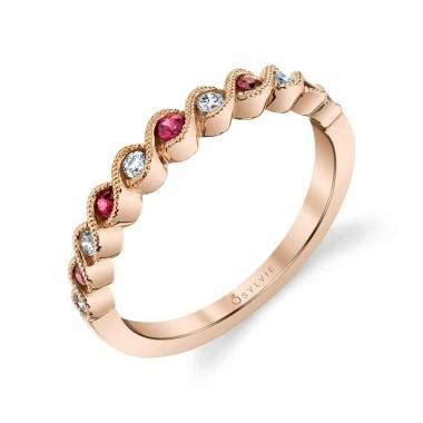 colored wedding bands colored wedding bands sylvie collection