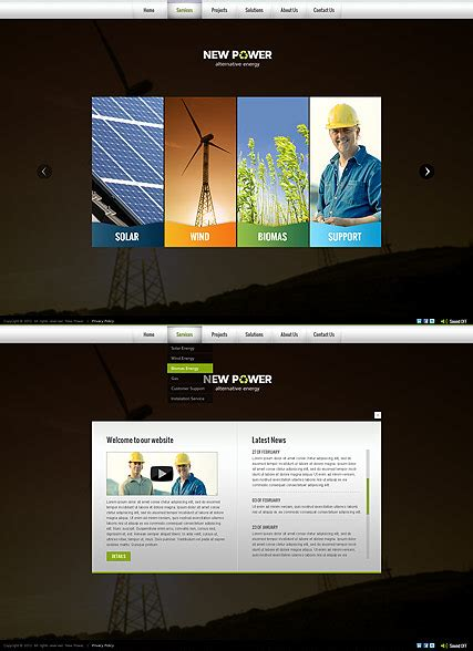 Renewable Energy Html5 Template Best Website Templates Html5 Animated Website Templates
