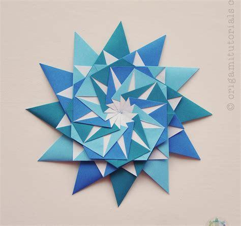 Origami 4 Pointed - origami 12 pointed origami tutorials