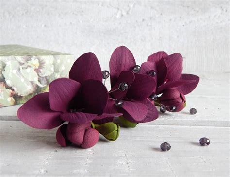 Wedding Hair Flowers Small by Wedding Floral Hair Pins Burgundy Small Flowers Flower