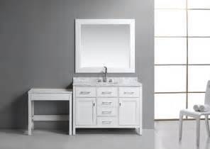 Bathroom Makeup Vanity Table 36 Quot Single Sink Vanity Set In White With One Make