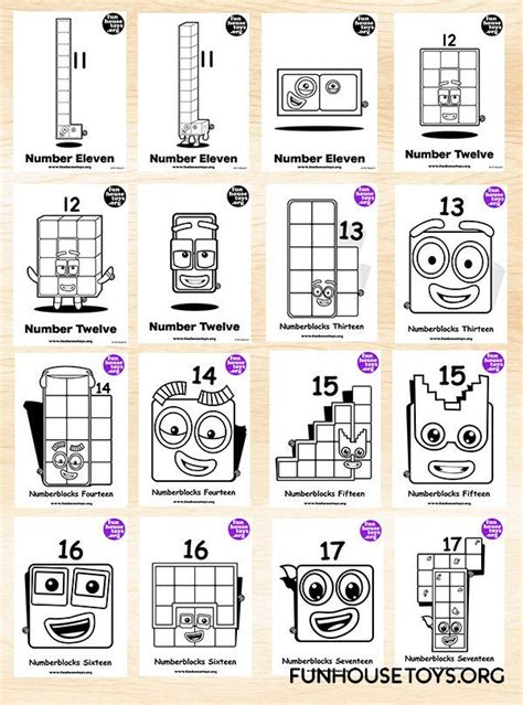 fun house toys numberblocks coloring pages  kids