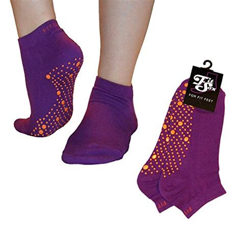 Socks Kaos Kaki Pilates Non Slip Grip Health pilates barre anti slip non slip grip socks falls prevention sox purple orange