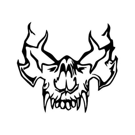 Tribal Sticker Skull by Tribal Vire Skull 5 Vinyl Decal Sticker Aftermarket