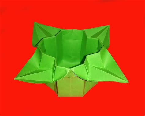 Simple Origami Basket - easy origami basket easter box for