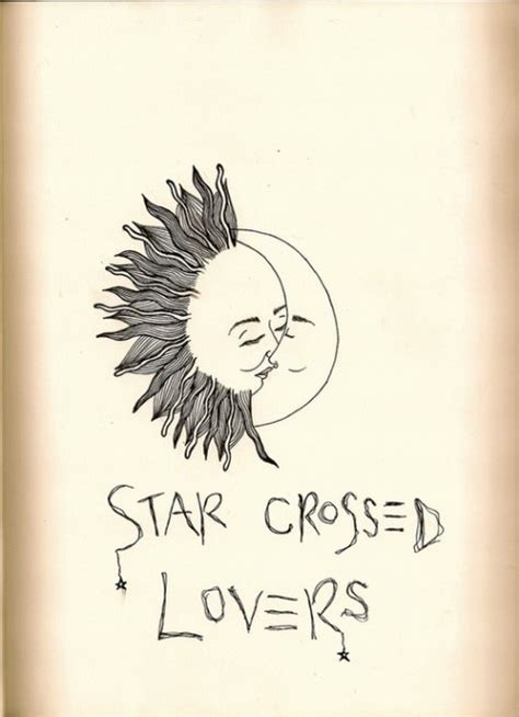 star crossed tattoos crossed moon ideas