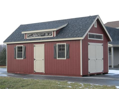 amish built   frame storage shed  upgraded