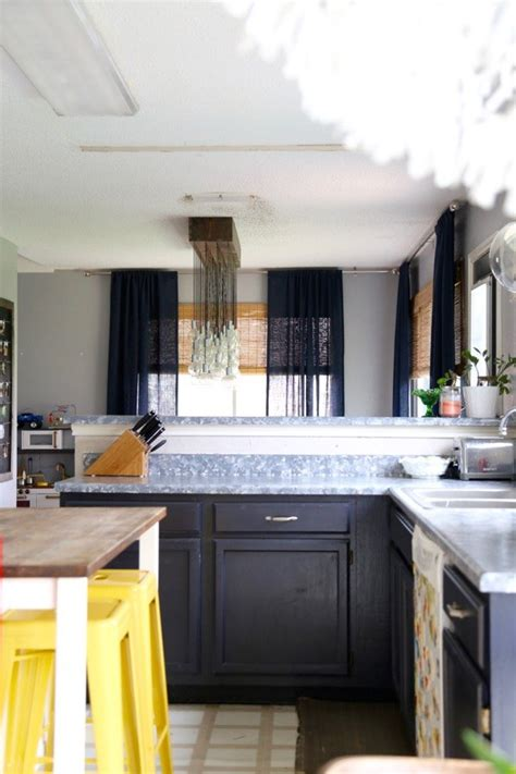 Artificial Kitchen Countertops by Diy Faux Granite Countertops Hometalk