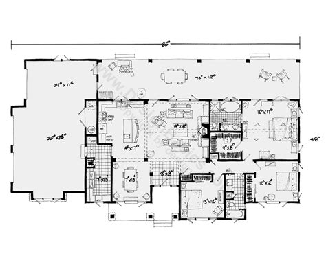 single floor house plan one story house plans with open floor plans design basics