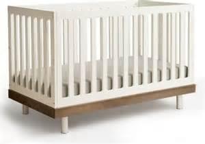 Modern Convertible Crib Convertible Crib In Walnut Modern Cribs By Allmodern