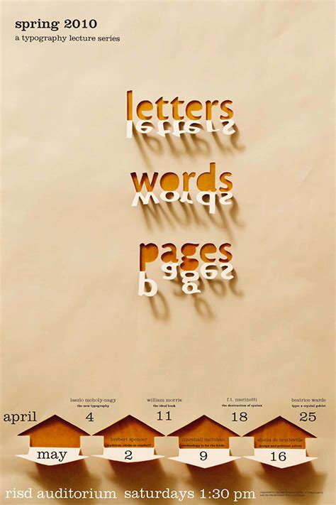 How To Make A Poster On Paper - letters words pages on behance