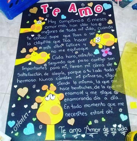 imagenes de carteles de amor para mi novia hechos a mano cartel regalo de aniversario cumplea 241 os para novio o novia