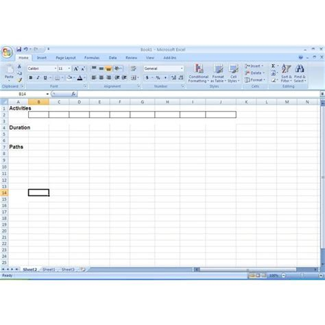 How To Use Excel In The Critical Path Method Cpm Network Diagram Template Excel