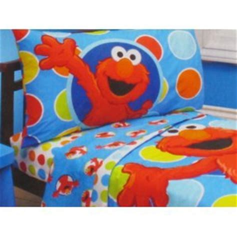 new sesame street elmo 4 piece toddler bedding set ebay