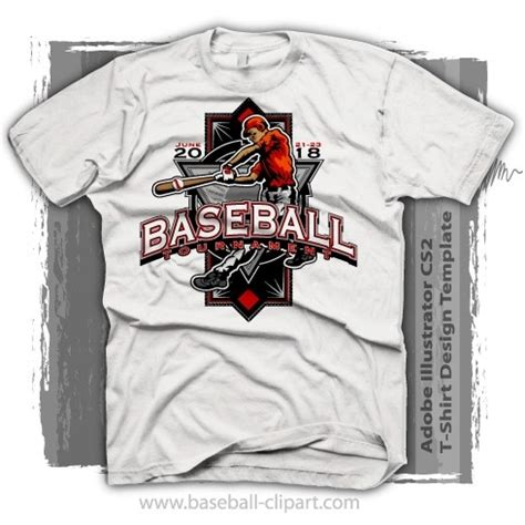 Baseball T Shirt Design Templates Easy To Edit Tournament Baseball T Shirt Design Template Vector Format