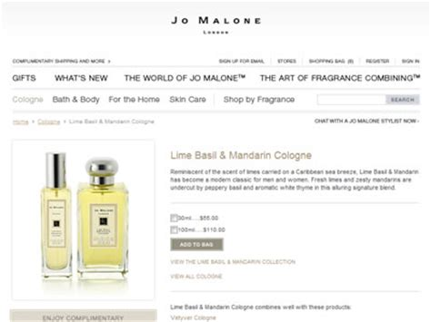 Parfum Original Jo Malone Basil Neroli For Unisex jo malone lime basil mandarin cologne fragrances
