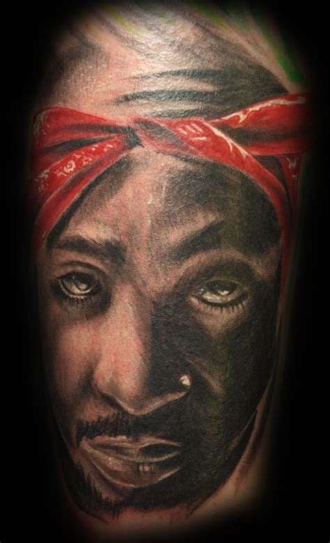 tupacs tattoos tupac portrait www imgkid the image kid has it