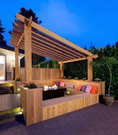 pergola avec banc de jardin 8 belles d 233 co de terrasses abrit 233 es par une pergola