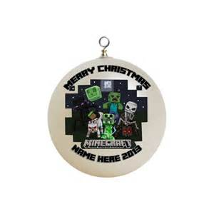 items similar to personalized minecraft christmas ornament