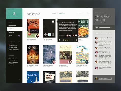 application design books bookshelf e books ui by victor erixon dribbble