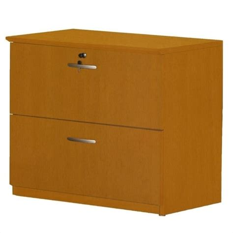 Mayline Napoli 2 Drawer Lateral Wood File Cabinet In Cherry Wood File Cabinets