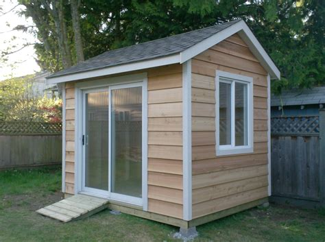 Siding For Shed by This Is An 8x10 Shed With Cedar Siding With A Sliding Door