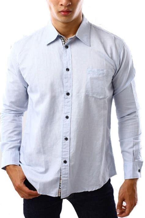 Kemeja Pria Fashion Garis Garis Tribal Hitam Merah Slim 1000 ide tentang kemeja putih di kemeja blus dan model pakaian