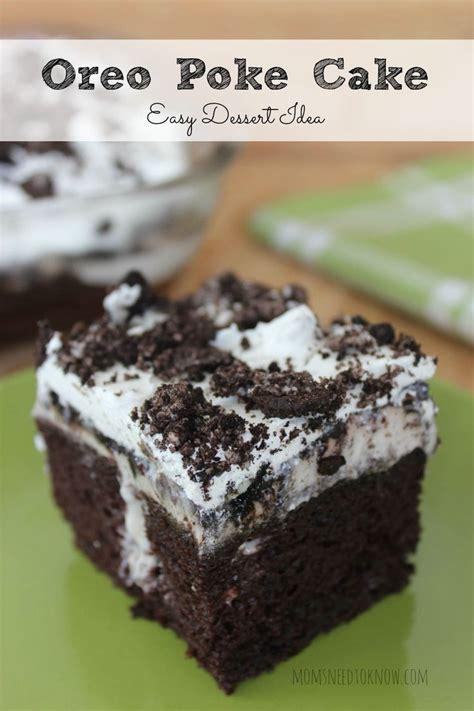 oreo poke cake recipe easy dessert idea recipe