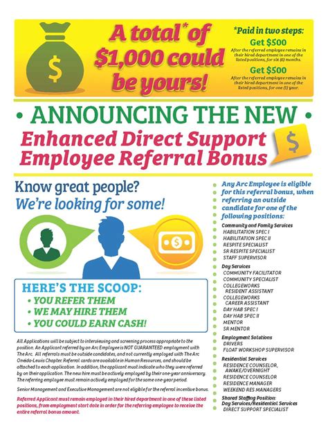 display 737 employee referral program flyer wsource