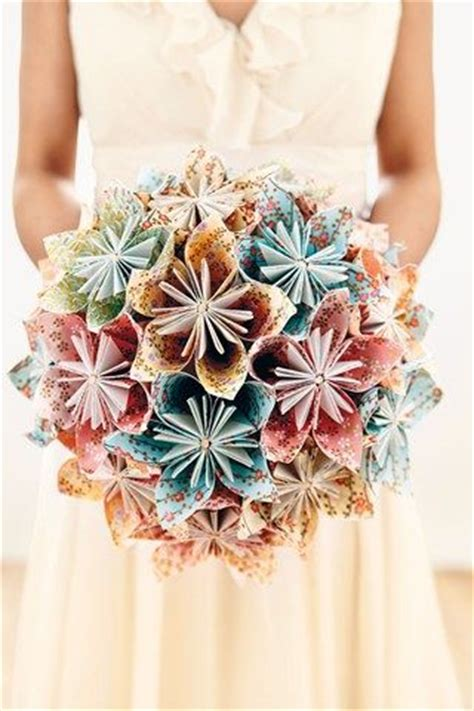 How To Make Paper Flowers Bouquet - best 20 paper wedding bouquets ideas on paper