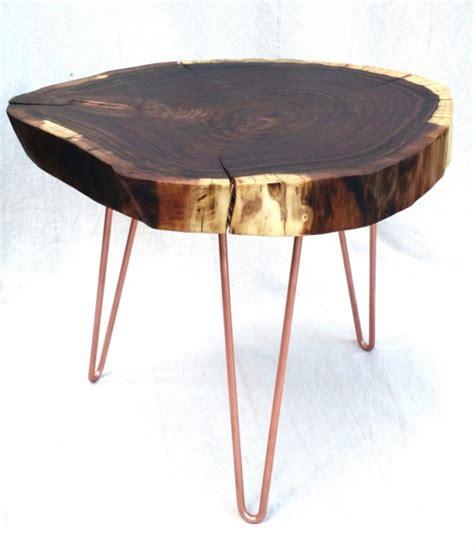 rounded edge coffee table walnut live edge slab side table coffee