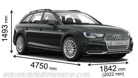Breite Audi A4 Avant by Abmessungen Der Audi Autos Mit L 228 Nge Breite Und H 246 He