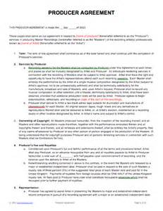 Music Production Agreement Template Music Business Contract Templates Amp Samples Music Law