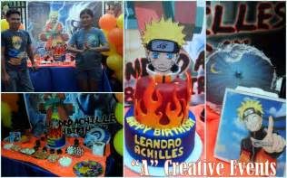 naruto themed party for leandro achilles athena miel s balloons bubbles and party needs athena