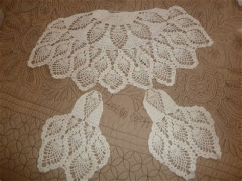 antique vintage crochet chair covers back arm covers ebay